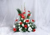 Vypichovaná kytice  - cena 1000,- Kč