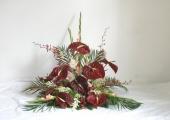 Vypichovaná kytice - cena 1200 - 1500,- Kč
